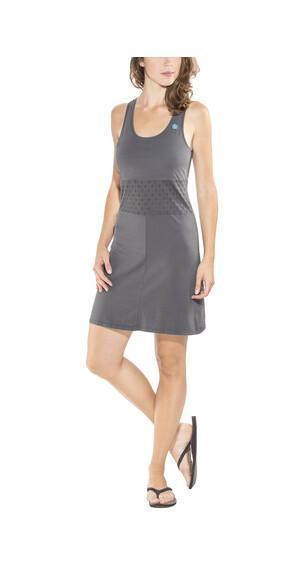 E9 Andy Solid jurk Dames grijs